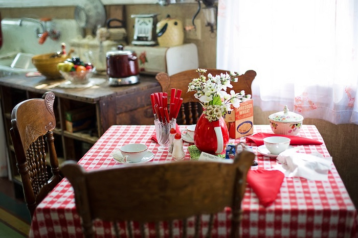 Malé kuchyně ve vintage stylu